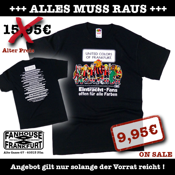T Shirt United Colors Of Frankfurt Schwarz Fanhouse Frankfurt