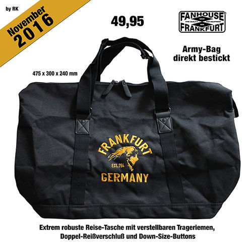 "Army-Bag ""Frankfurt Germany American Highschool"""