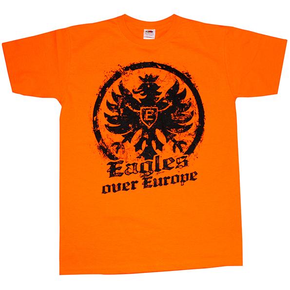 T Shirt Eagles Over Europe Orange Fanhouse Frankfurt