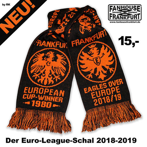 "Schal ""Eagles over Europe"" schwarz-orange"